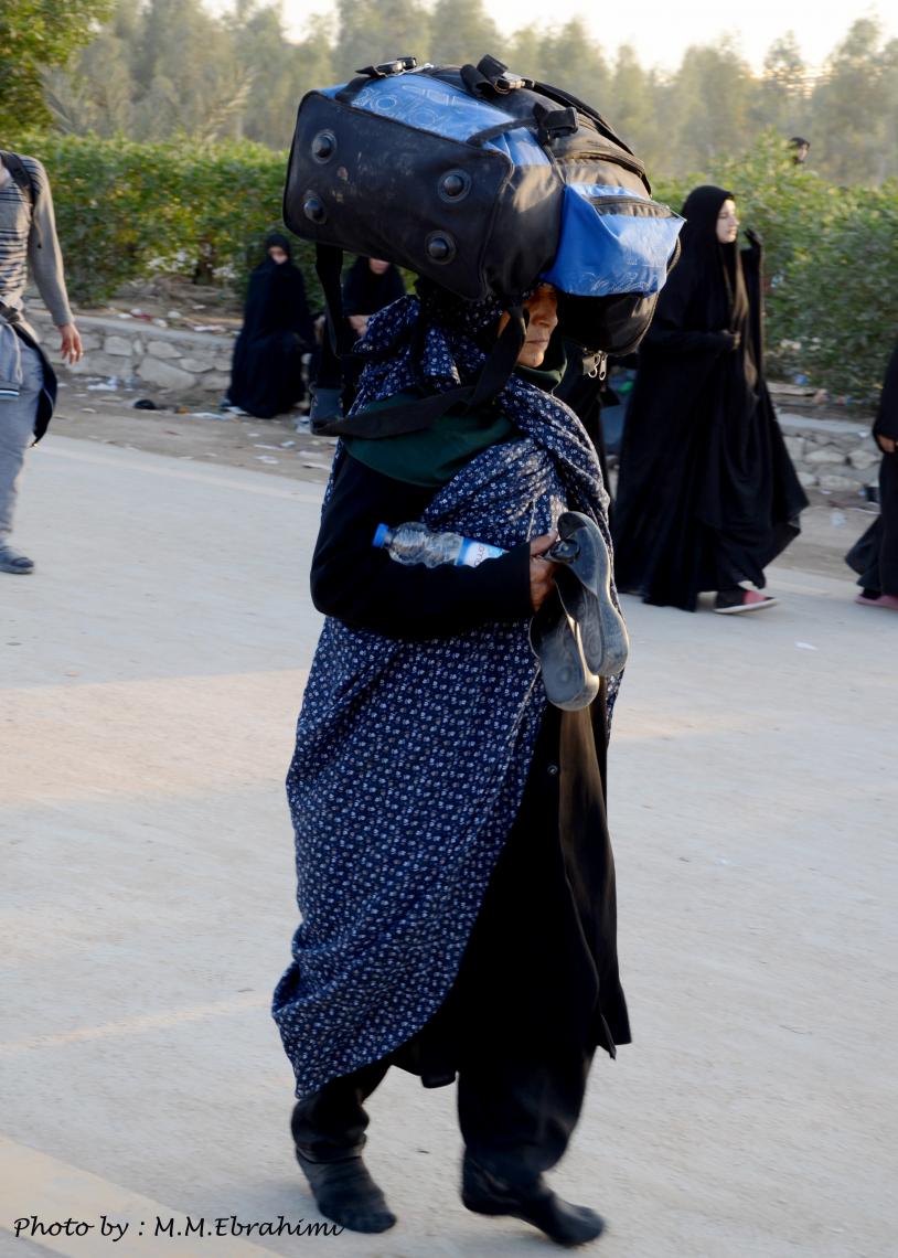 سوگواره چهارم-عکس 17-محمد مهدی ابراهیمی مدوار-پیاده روی اربعین از نجف تا کربلا