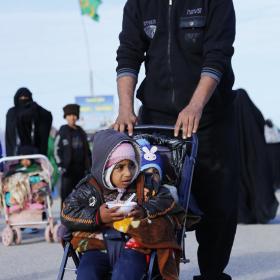 سوگواره سوم-عکس 13-علی بیات-پیاده روی اربعین از نجف تا کربلا