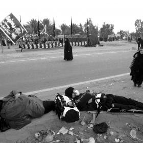 سوگواره سوم-عکس 91-حسین استوار -پیاده روی اربعین از نجف تا کربلا