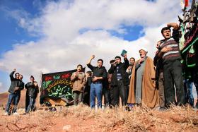 سوگواره دوم-عکس 11-رضا نجفلو-پیاده روی اربعین از نجف تا کربلا