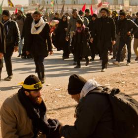 سوگواره سوم-عکس 15-محمد حسین ابراهیمی ورکیانی-پیاده روی اربعین از نجف تا کربلا
