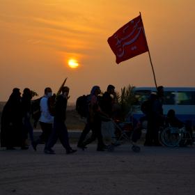 سوگواره پنجم-عکس 9-رضوان معاویان بریچه-پیاده روی اربعین از نجف تا کربلا