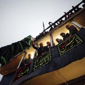 سوگواره پنجم-عکس 47-امین  رحمانی-جلسه هیأت فضای بیرونی
