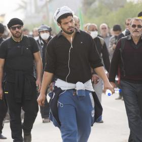 سوگواره چهارم-عکس 45-علی بیات-پیاده روی اربعین از نجف تا کربلا