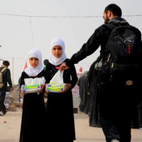 سوگواره پنجم-عکس 6-رضوان معاویان بریچه-پیاده روی اربعین از نجف تا کربلا