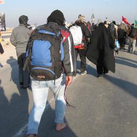 سوگواره دوم-عکس 66-محمد کشاورز-پیاده روی اربعین از نجف تا کربلا