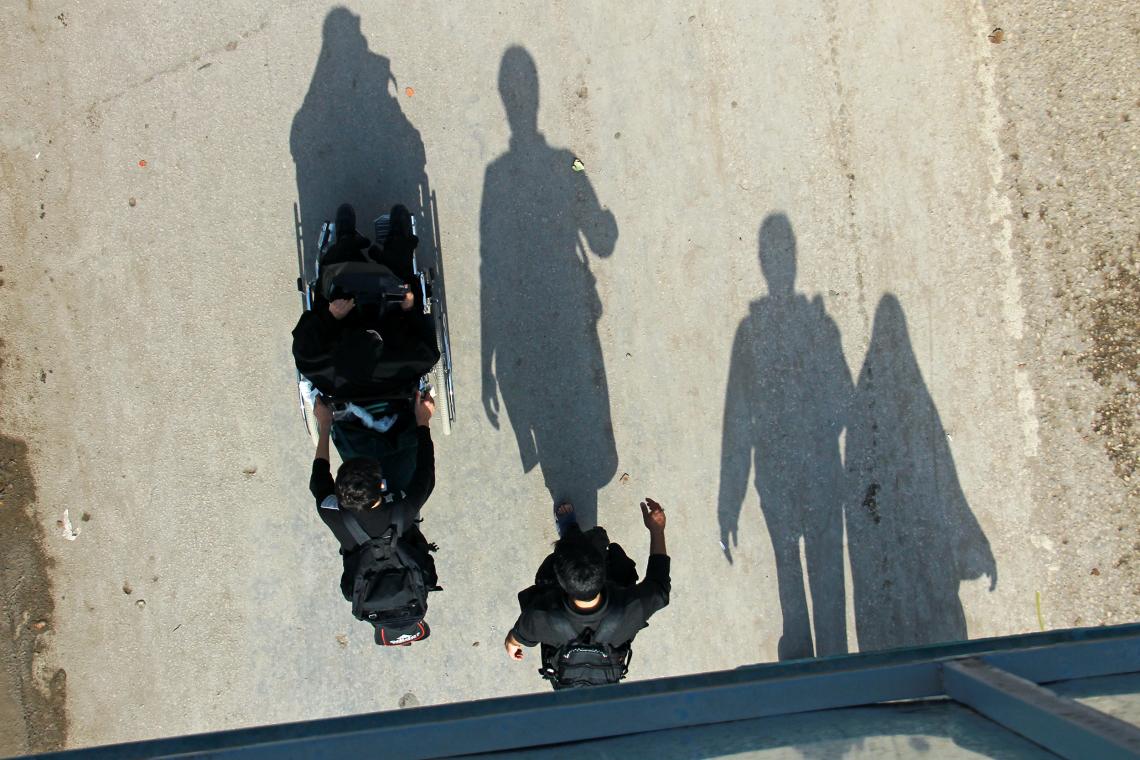 سوگواره سوم-عکس 32-حمید عابدی-پیاده روی اربعین از نجف تا کربلا