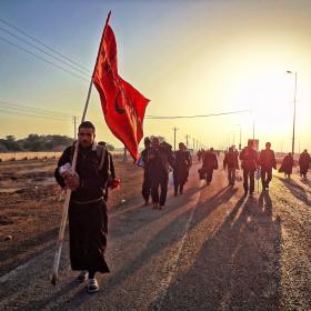 سوگواره سوم-عکس 95-حسین استوار -پیاده روی اربعین از نجف تا کربلا