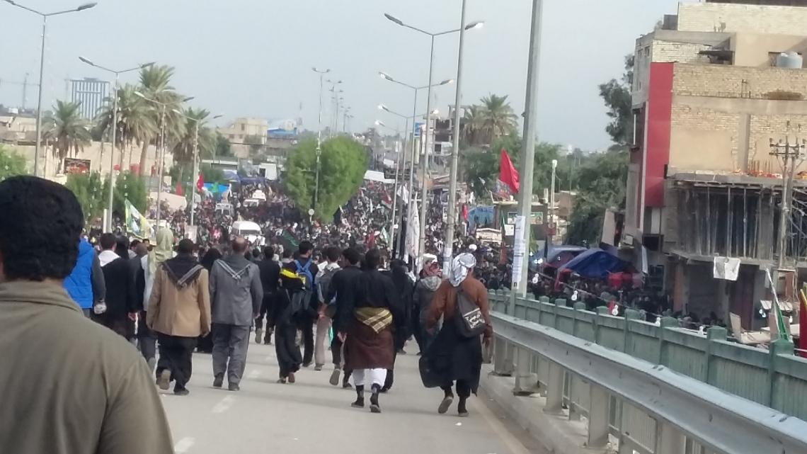 سوگواره چهارم-عکس 13-عبدالمجید اسماعیلی-پیاده روی اربعین از نجف تا کربلا