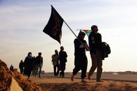 سوگواره دوم-عکس 8-حمید عابدی-پیاده روی اربعین از نجف تا کربلا