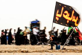 سوگواره پنجم-عکس 107-امیر قیومی-پیاده روی اربعین از نجف تا کربلا