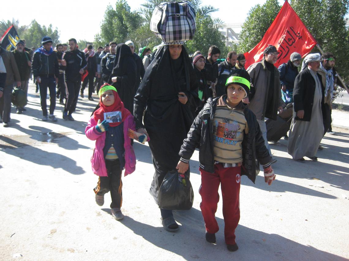سوگواره دوم-عکس 91-محمد کشاورز-پیاده روی اربعین از نجف تا کربلا