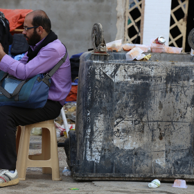 سوگواره چهارم-عکس 21-محمد امین محمودی-پیاده روی اربعین از نجف تا کربلا