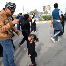 سوگواره پنجم-عکس 10-محمد حسین صادقی-پیاده روی اربعین از نجف تا کربلا