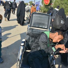 سوگواره پنجم-عکس 77-مهرداد  حسنی-پیاده روی اربعین از نجف تا کربلا