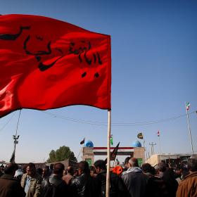سوگواره سوم-عکس 57-حسین استوار -پیاده روی اربعین از نجف تا کربلا