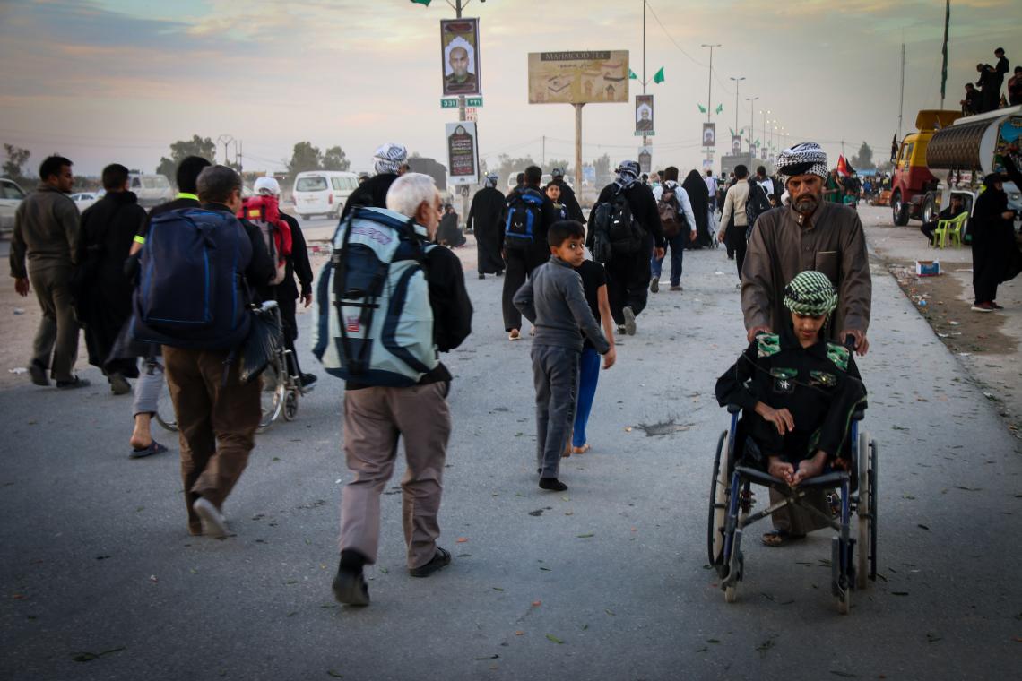 سوگواره چهارم-عکس 38-محمد رضا میثمی-پیاده روی اربعین از نجف تا کربلا