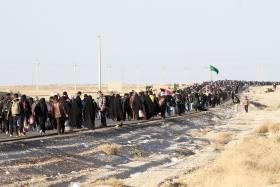 سوگواره سوم-عکس 27-محمد رفیعی موحد-پیاده روی اربعین از نجف تا کربلا