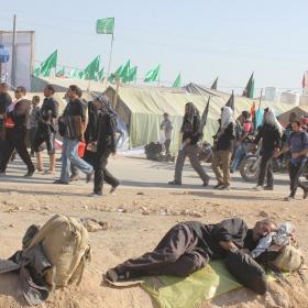 سوگواره چهارم-عکس 21-علی هاشمی-پیاده روی اربعین از نجف تا کربلا