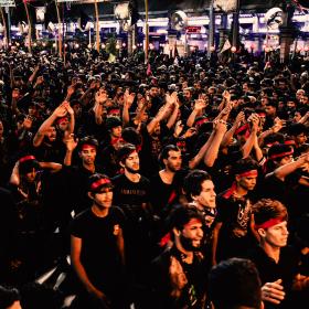 سوگواره پنجم-عکس 1-مرتضی شادور-پیاده روی اربعین از نجف تا کربلا