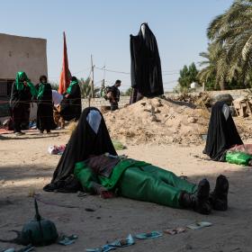 سوگواره پنجم-عکس 62-مرتضی امین الرعایایی-پیاده روی اربعین از نجف تا کربلا