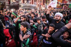 سوگواره پنجم-عکس 23-سید محمود حسینی-پیاده روی اربعین از نجف تا کربلا