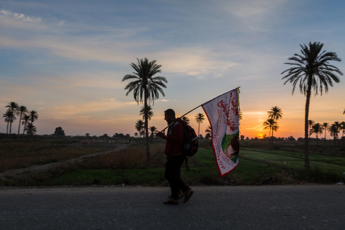 سوگواره پنجم-عکس 80-مرتضی امین الرعایایی-پیاده روی اربعین از نجف تا کربلا