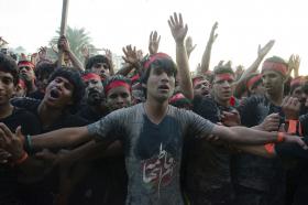سوگواره پنجم-عکس 20-جابر غلامی-پیاده روی اربعین از نجف تا کربلا
