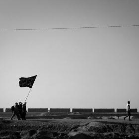 سوگواره سوم-عکس 47-حسین استوار -پیاده روی اربعین از نجف تا کربلا