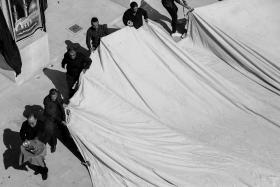 سوگواره پنجم-عکس 55-مجید حجتی-جلسه هیأت فضای بیرونی