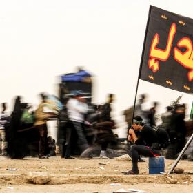 سوگواره سوم-عکس 14-امیر قیومی-پیاده روی اربعین از نجف تا کربلا