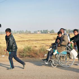 سوگواره سوم-عکس 1-حسین علی پور-پیاده روی اربعین از نجف تا کربلا