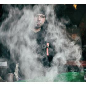 سوگواره دوم-عکس 11-حمید رضا حبیبی محب سراج-جلسه هیأت فضای بیرونی