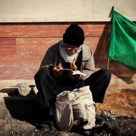 سوگواره سوم-عکس 54-حسین استوار -پیاده روی اربعین از نجف تا کربلا