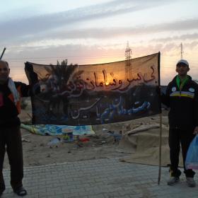 سوگواره پنجم-عکس 9-علی سهرابی-پیاده روی اربعین از نجف تا کربلا