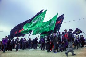 سوگواره سوم-عکس 62-علی ناصری-پیاده روی اربعین از نجف تا کربلا