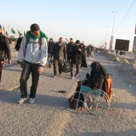 سوگواره دوم-عکس 161-محمد کشاورز-پیاده روی اربعین از نجف تا کربلا