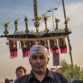 سوگواره پنجم-عکس 18-عباس مشهدی آقایی-پیاده روی اربعین از نجف تا کربلا