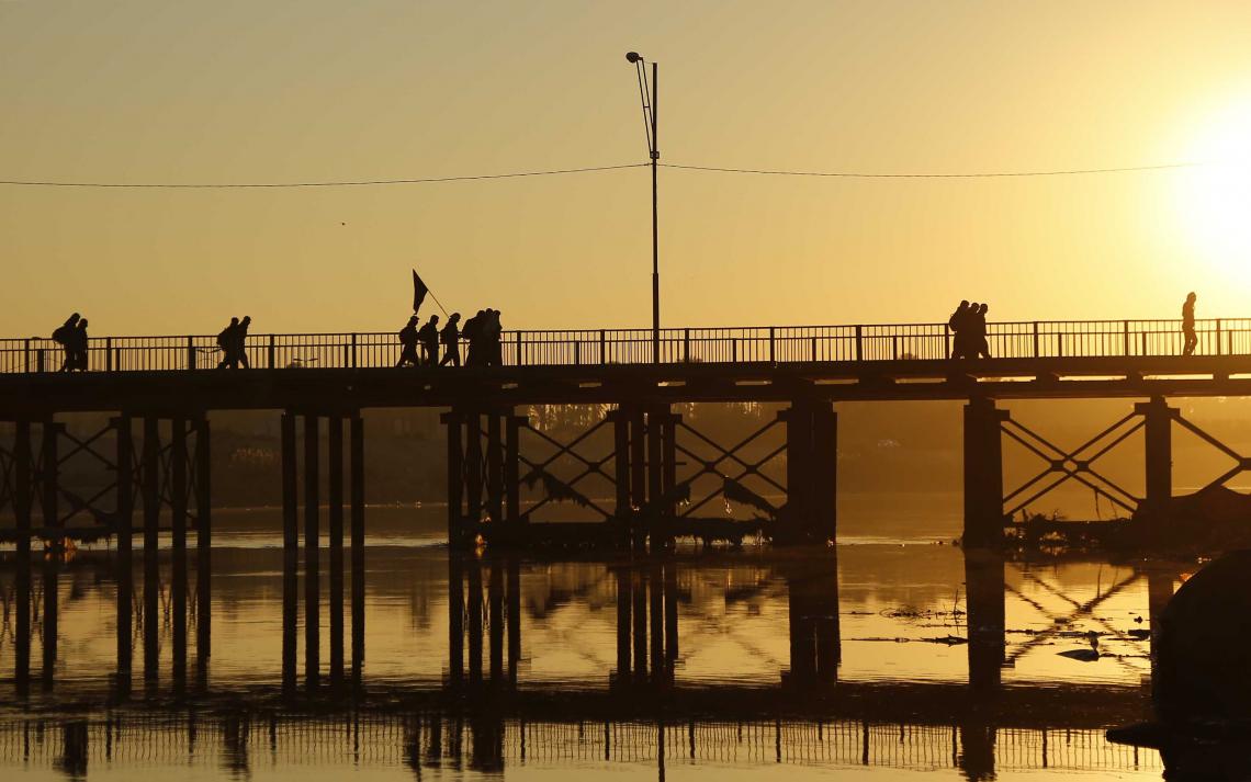 سوگواره سوم-عکس 9-علی بیات-پیاده روی اربعین از نجف تا کربلا