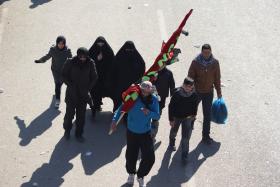 سوگواره دوم-عکس 35-محسن مرادی-پیاده روی اربعین از نجف تا کربلا