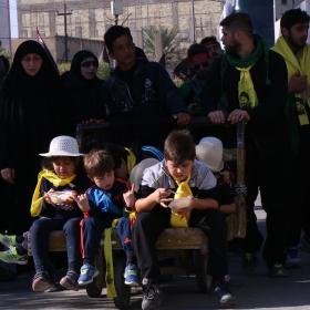 سوگواره پنجم-عکس 5-سعید ابراهیمی نهزمی -پیاده روی اربعین از نجف تا کربلا