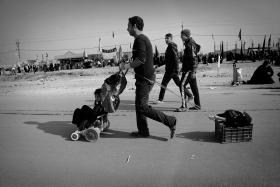 سوگواره سوم-عکس 81-حسین استوار -پیاده روی اربعین از نجف تا کربلا