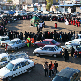 سوگواره دوم-عکس 12-رضا نجفلو-پیاده روی اربعین از نجف تا کربلا