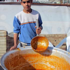 سوگواره سوم-عکس 16-امین رحیم آبادی-پیاده روی اربعین از نجف تا کربلا