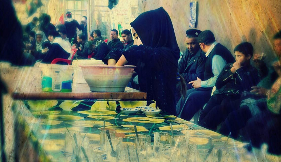 سوگواره چهارم-عکس 27-محمد رضا حسین پور حمزه کلایی-پیاده روی اربعین از نجف تا کربلا