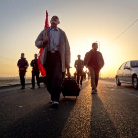 سوگواره سوم-عکس 127-حسین استوار -پیاده روی اربعین از نجف تا کربلا