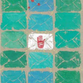 فراخوان ششمین سوگواره عاشورایی پوستر هیأت-تیلا اصغرزاده منصوری-بخش جنبی-پوسترهای عاشورایی
