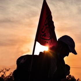 سوگواره پنجم-عکس 3-مرتضی شادور-پیاده روی اربعین از نجف تا کربلا