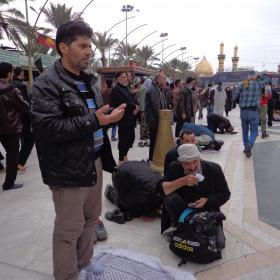 سوگواره سوم-عکس 2-علی مقنی-پیاده روی اربعین از نجف تا کربلا