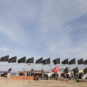 سوگواره چهارم-عکس 35-علی  حسن زاده-پیاده روی اربعین از نجف تا کربلا
